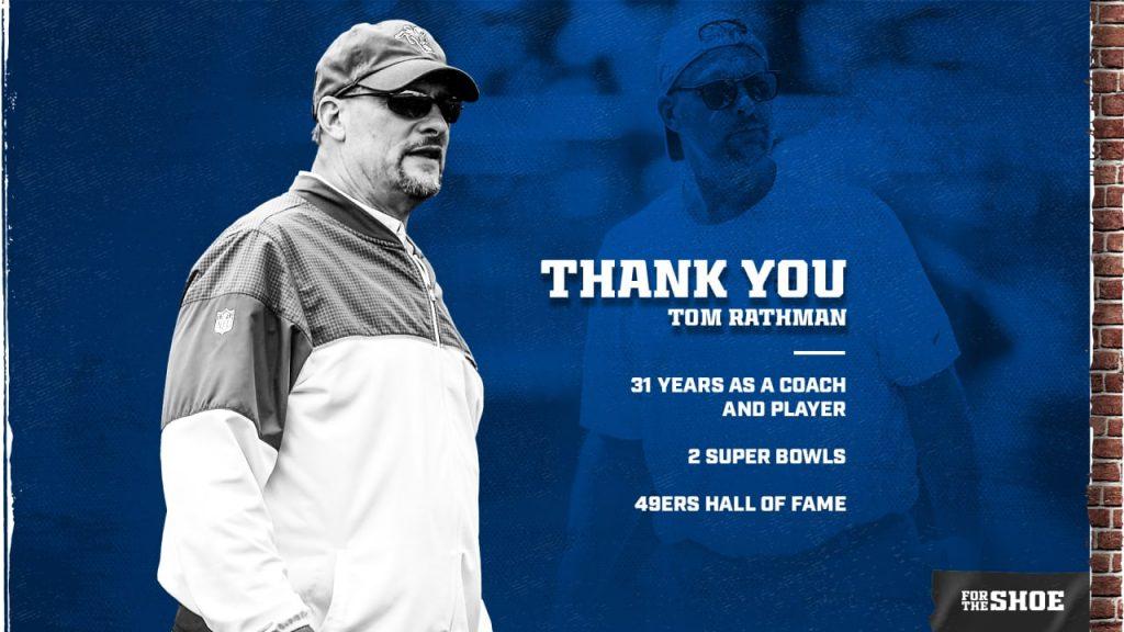 Colts running backs coach Tom Rathman announces...