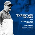 Colts running backs coach Tom Rathman announces...